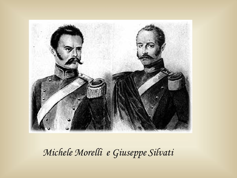 Michele Morelli e Giuseppe Silvati