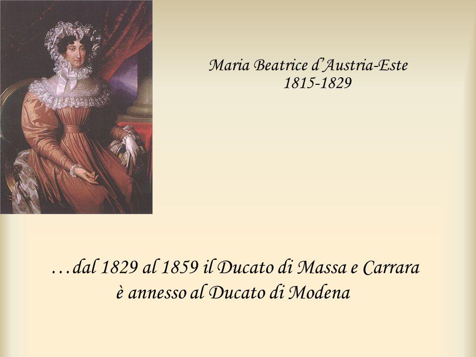 Maria Beatrice d'Austria-Este 1815-1829