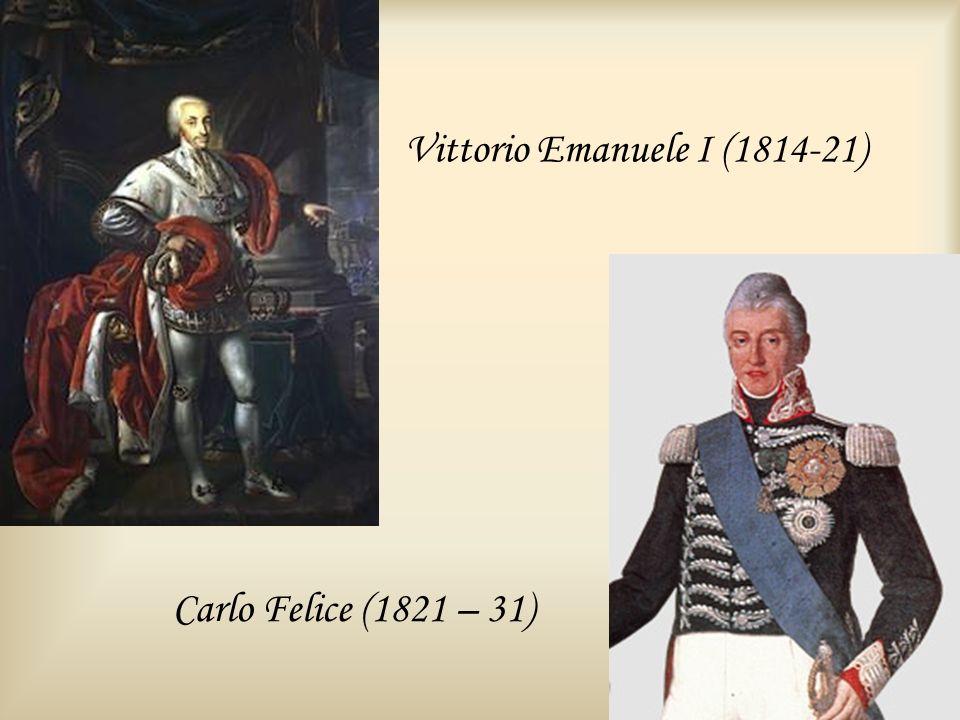 Vittorio Emanuele I (1814-21)