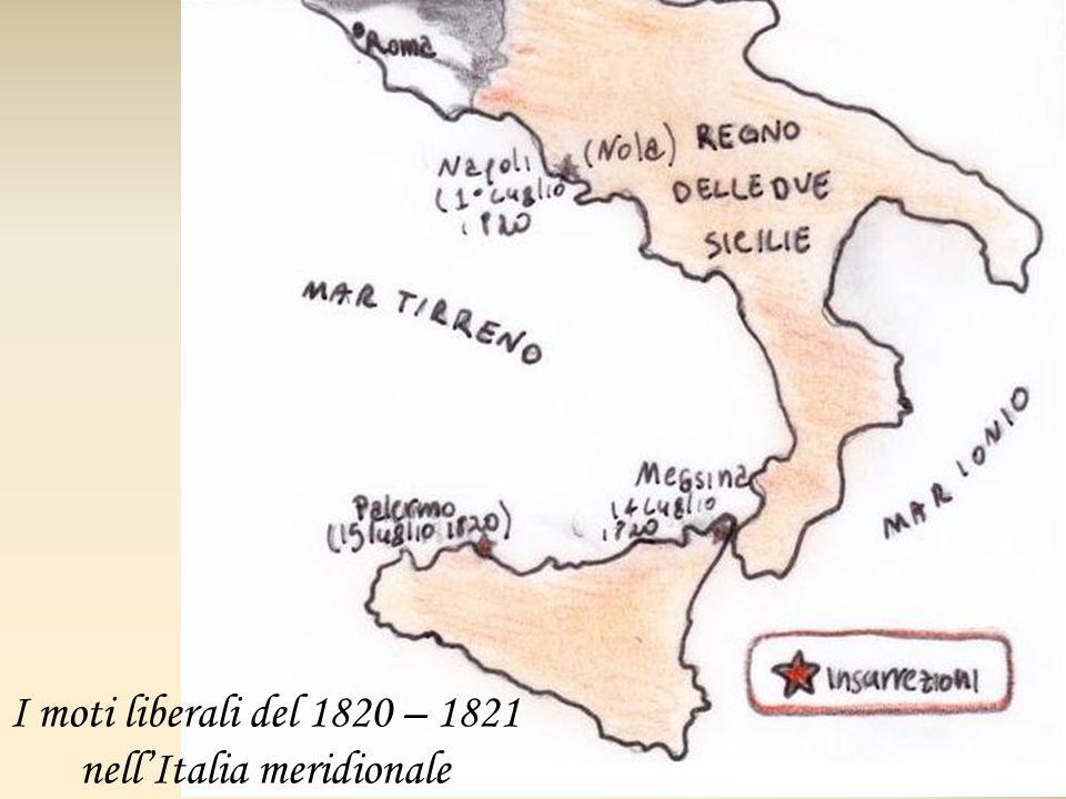 I moti liberali del 1820 – 1821 nell'Italia meridionale