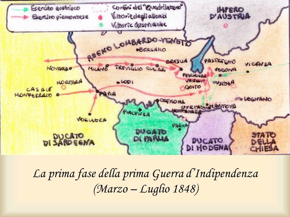 La prima fase della prima Guerra d'Indipendenza (Marzo – Luglio 1848)
