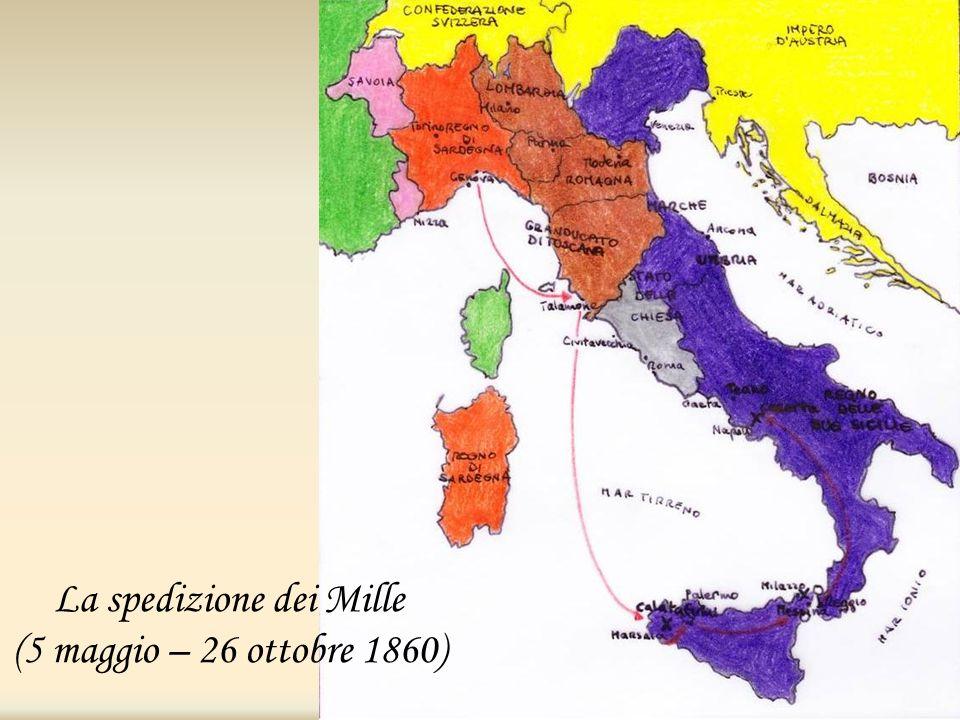 La spedizione dei Mille (5 maggio – 26 ottobre 1860)