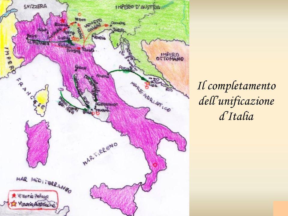 Il completamento dell'unificazione d'Italia
