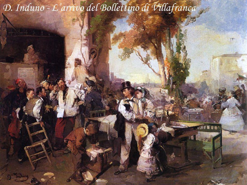D. Induno - L'arrivo del Bollettino di Villafranca