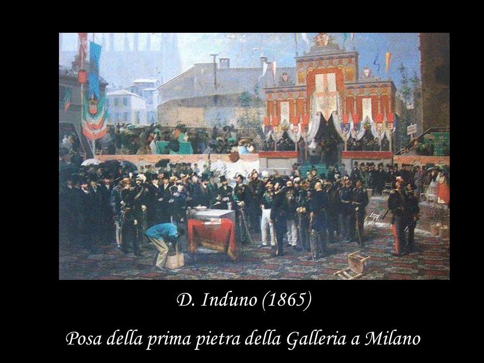 Posa della prima pietra della Galleria a Milano