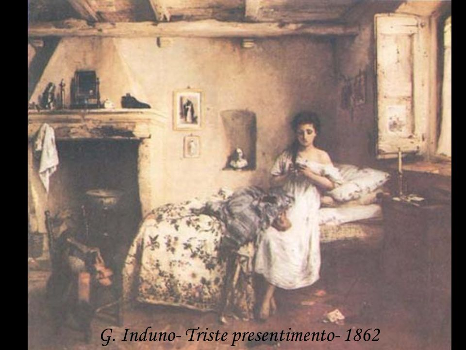 G. Induno- Triste presentimento- 1862