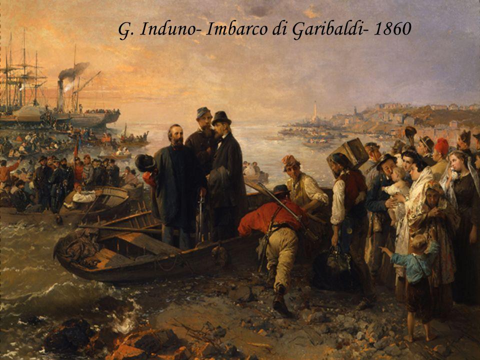 G. Induno- Imbarco di Garibaldi- 1860