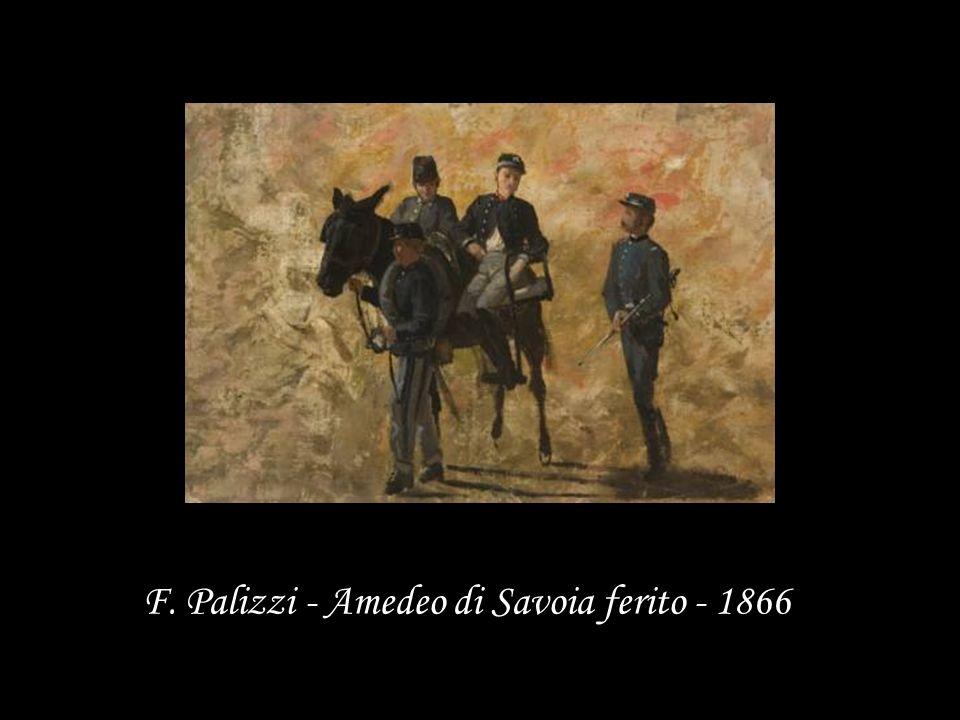 F. Palizzi - Amedeo di Savoia ferito - 1866