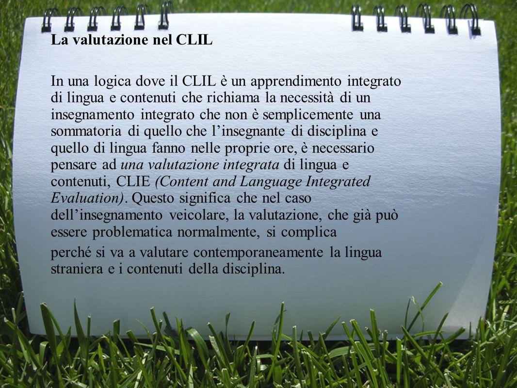 La valutazione nel CLIL