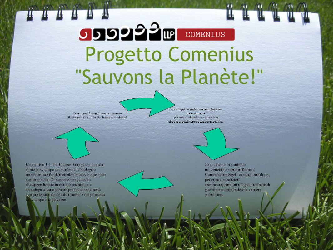 Progetto Comenius Sauvons la Planète!