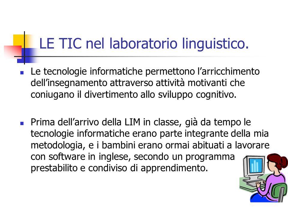 LE TIC nel laboratorio linguistico.
