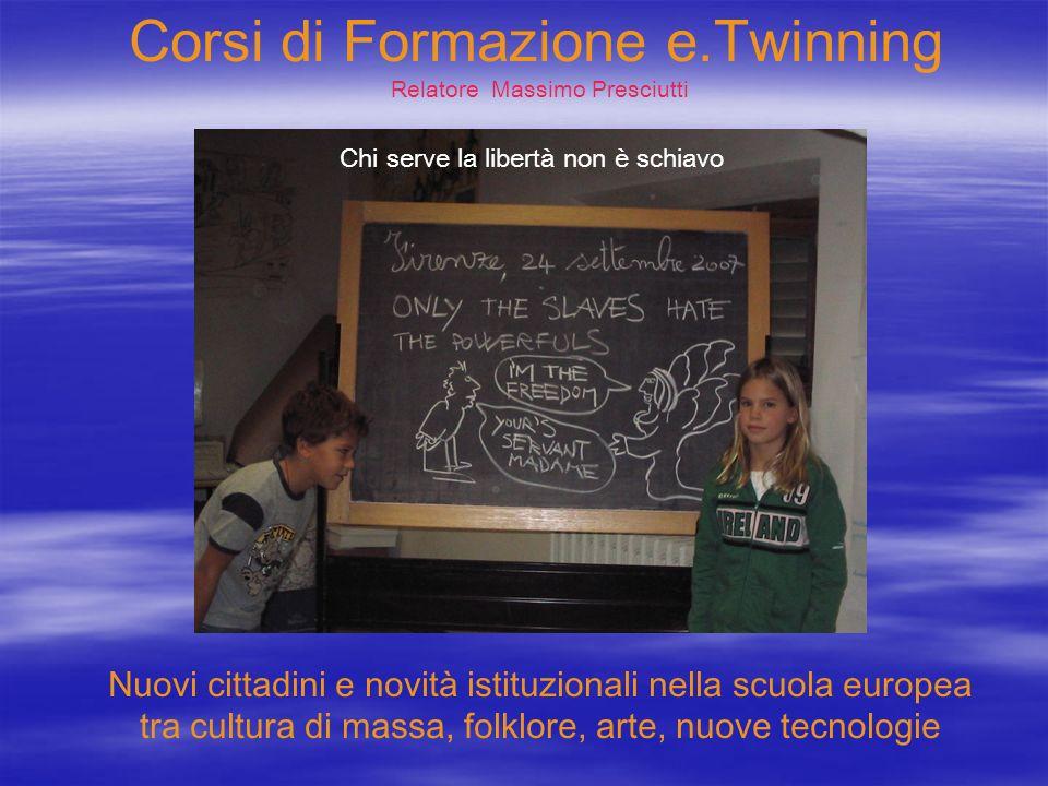 Corsi di Formazione e.Twinning Relatore Massimo Presciutti