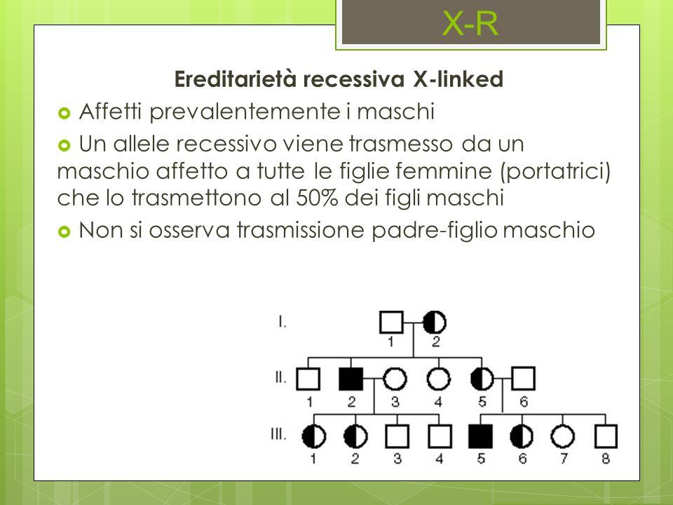 Ereditarietà recessiva X-linked