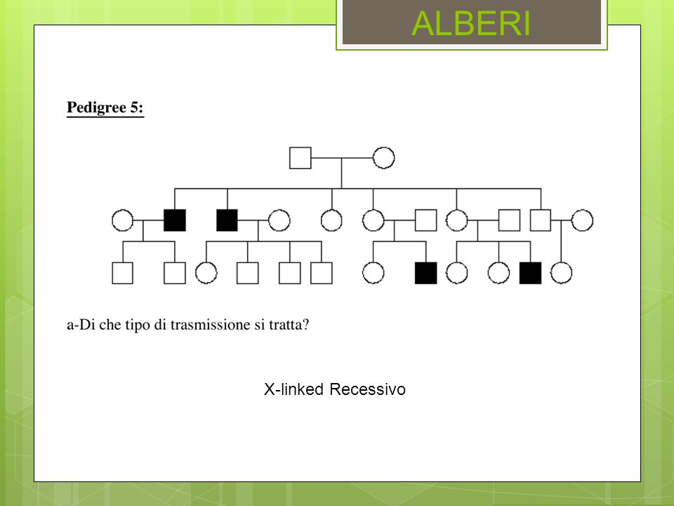 ALBERI X-linked Recessivo