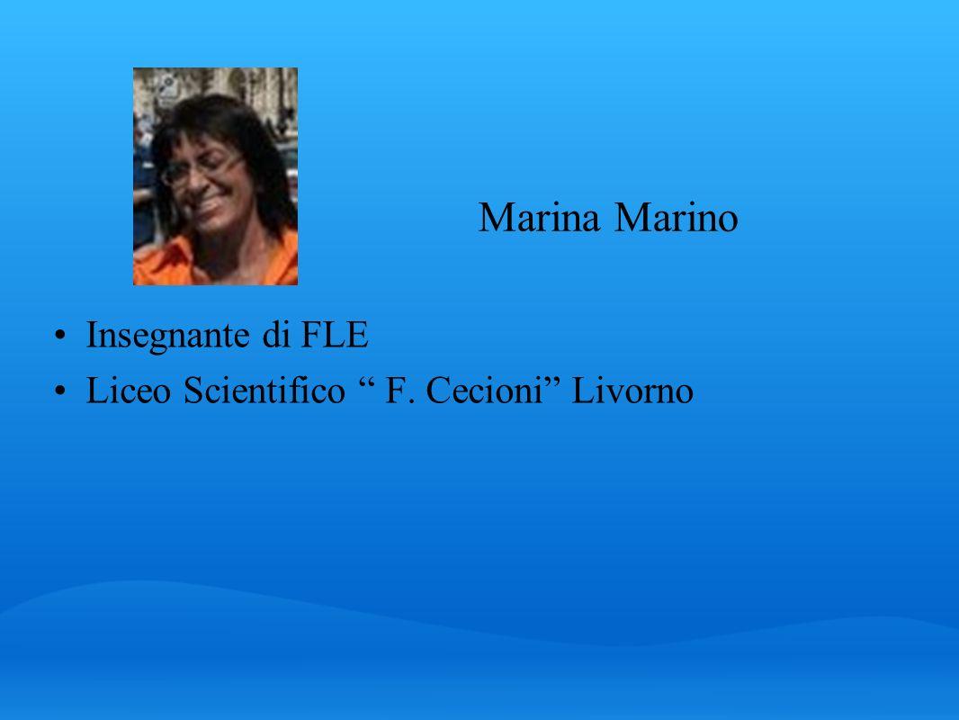 Marina Marino Insegnante di FLE