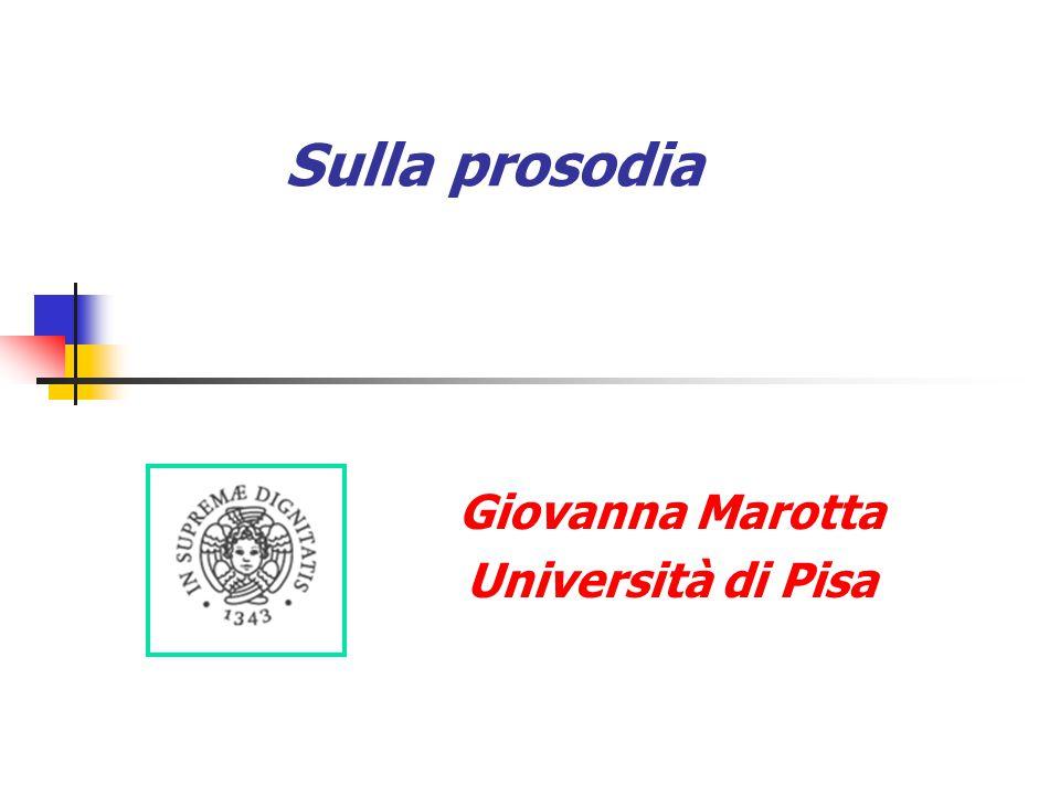 Giovanna Marotta Università di Pisa