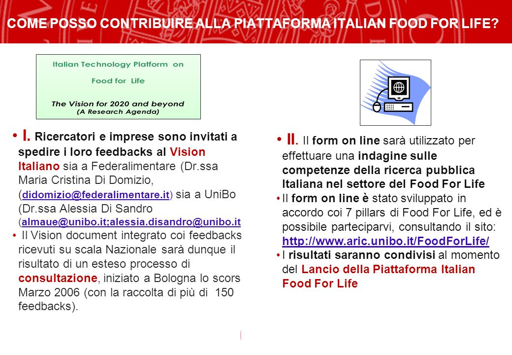 COME POSSO CONTRIBUIRE ALLA PIATTAFORMA ITALIAN FOOD FOR LIFE