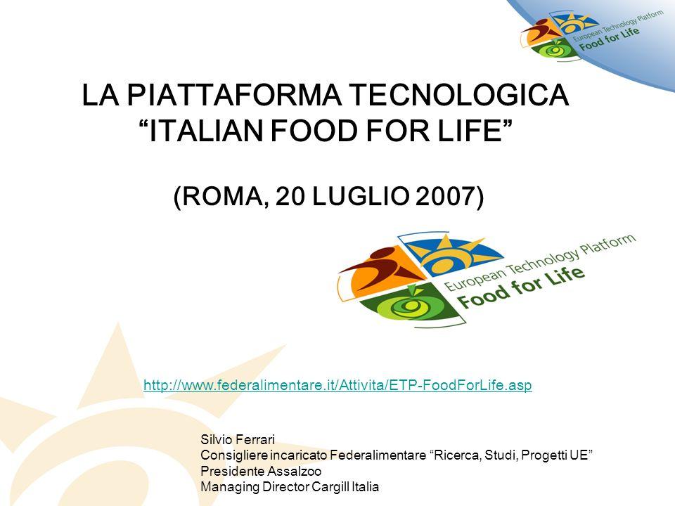 LA PIATTAFORMA TECNOLOGICA ITALIAN FOOD FOR LIFE