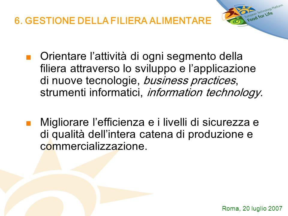 6. GESTIONE DELLA FILIERA ALIMENTARE
