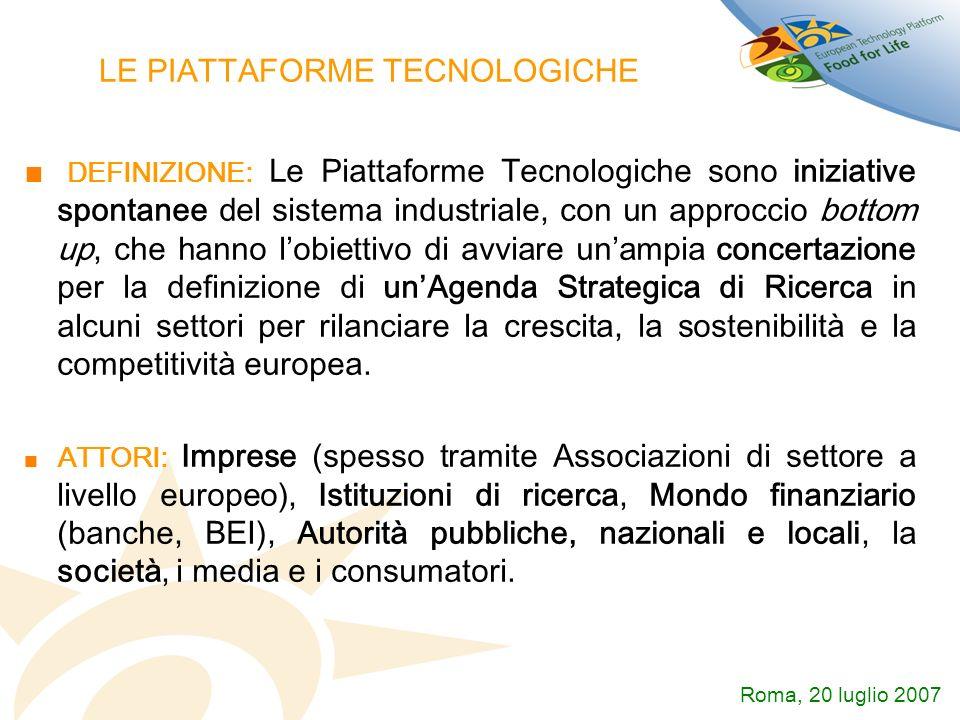 LE PIATTAFORME TECNOLOGICHE