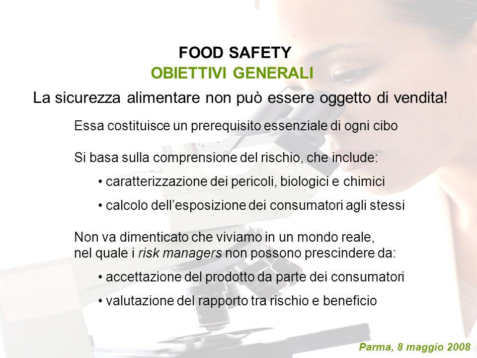 FOOD SAFETY OBIETTIVI GENERALI