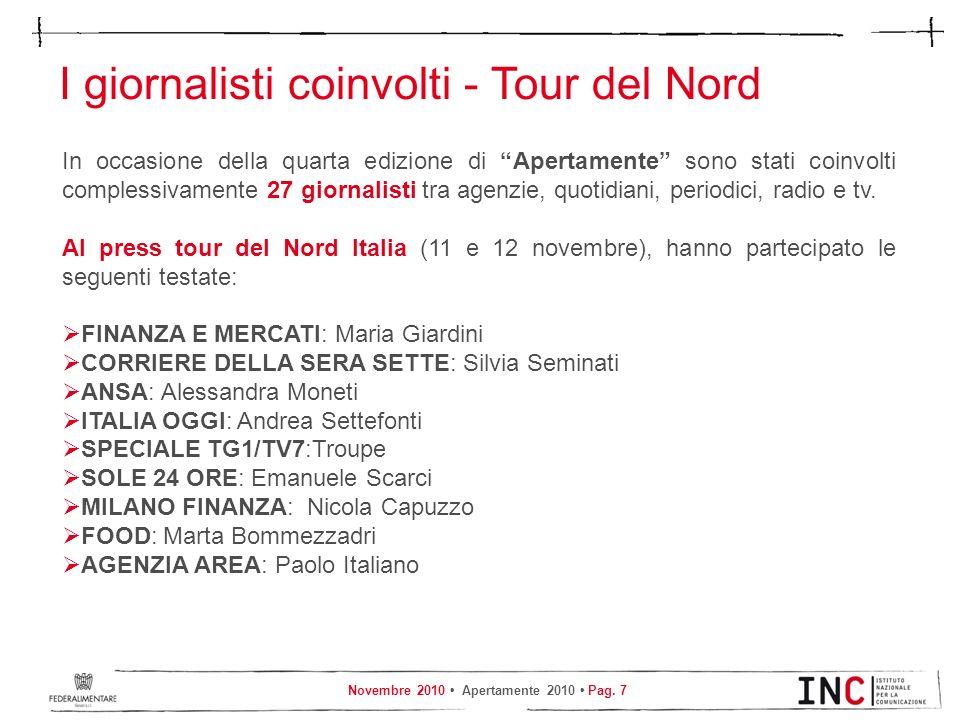 I giornalisti coinvolti - Tour del Nord