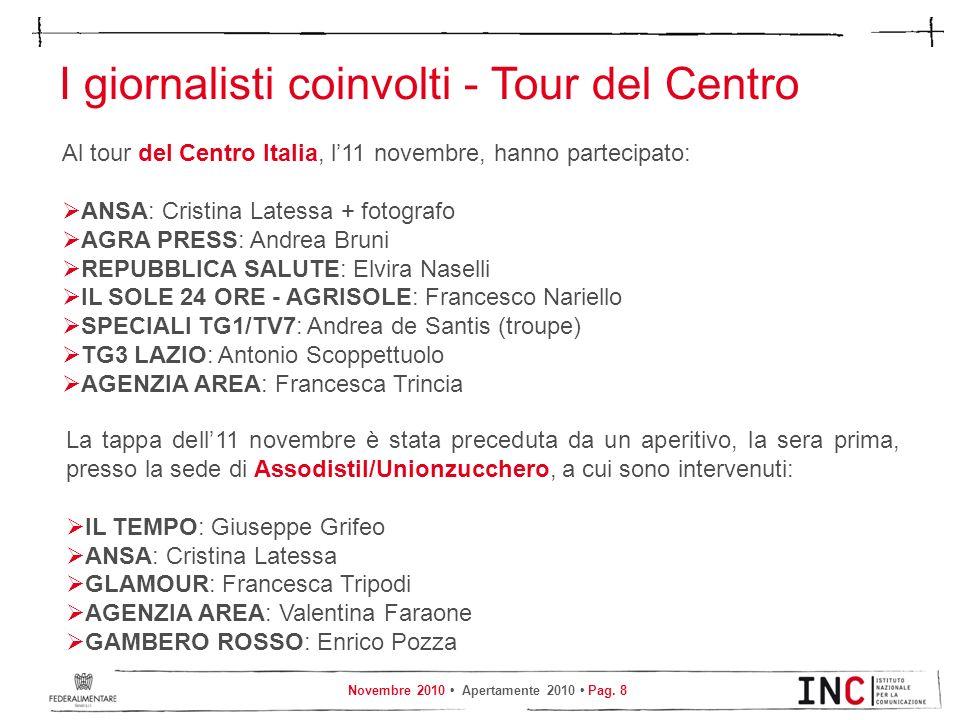 I giornalisti coinvolti - Tour del Centro
