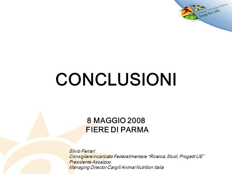 CONCLUSIONI 8 MAGGIO 2008 FIERE DI PARMA Silvio Ferrari