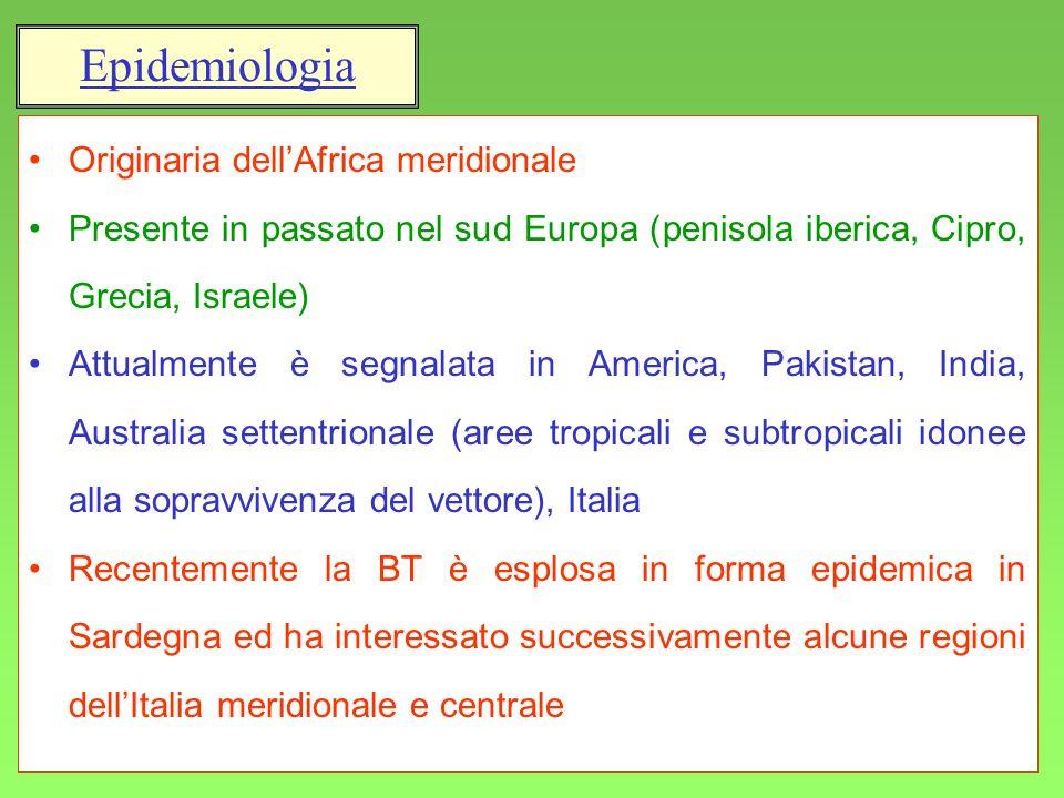 Epidemiologia Originaria dell'Africa meridionale