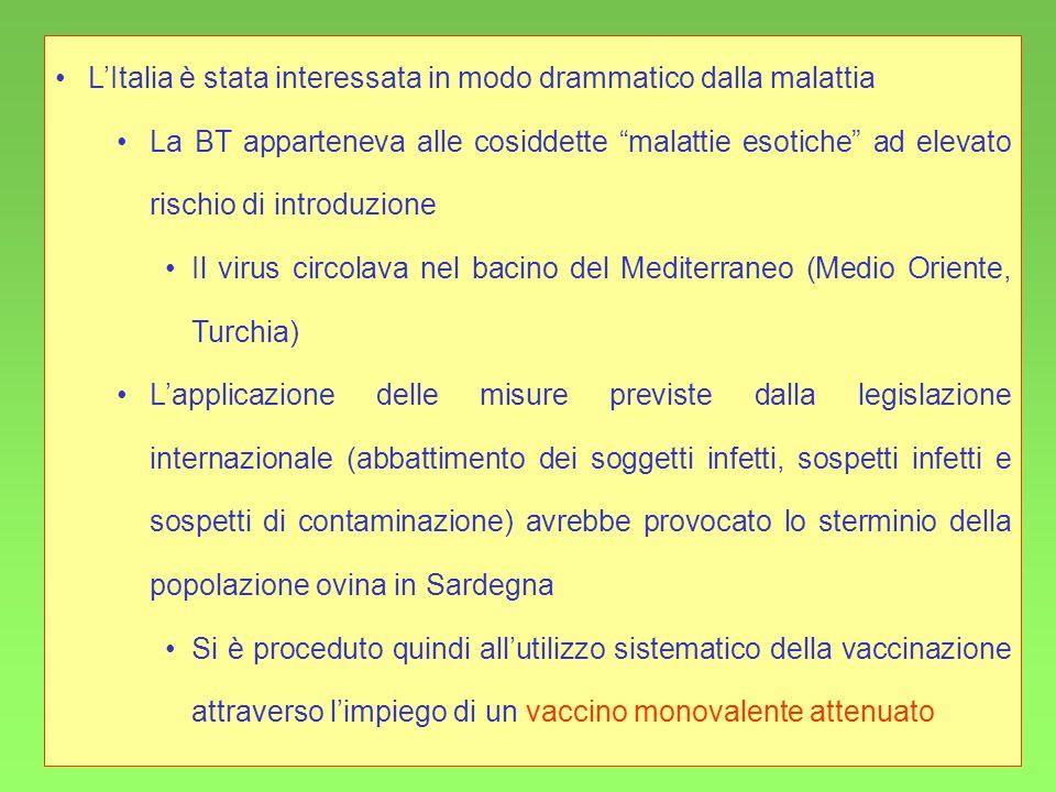 L'Italia è stata interessata in modo drammatico dalla malattia