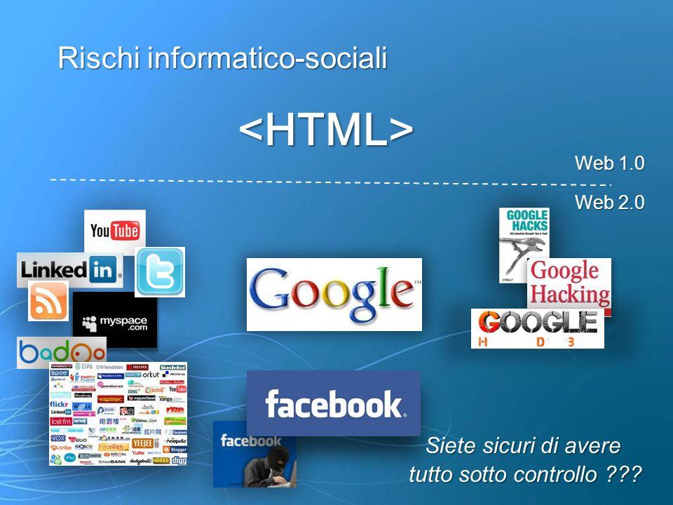 <HTML> Rischi informatico-sociali Siete sicuri di avere