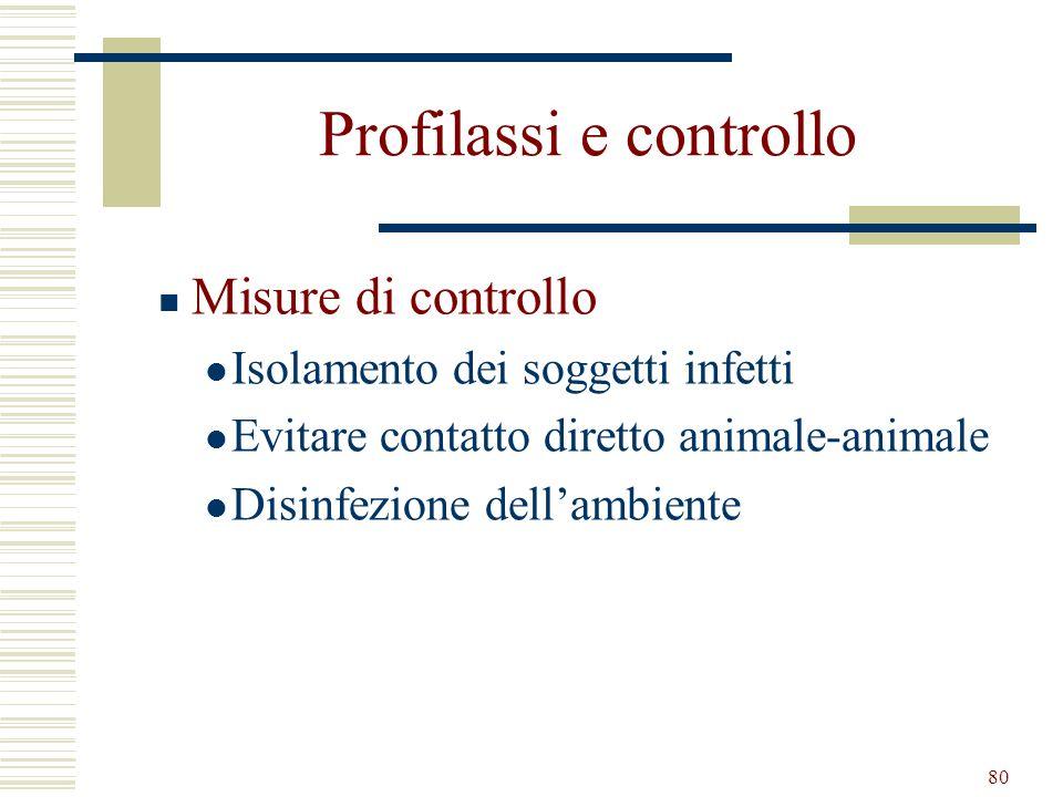 Profilassi e controllo