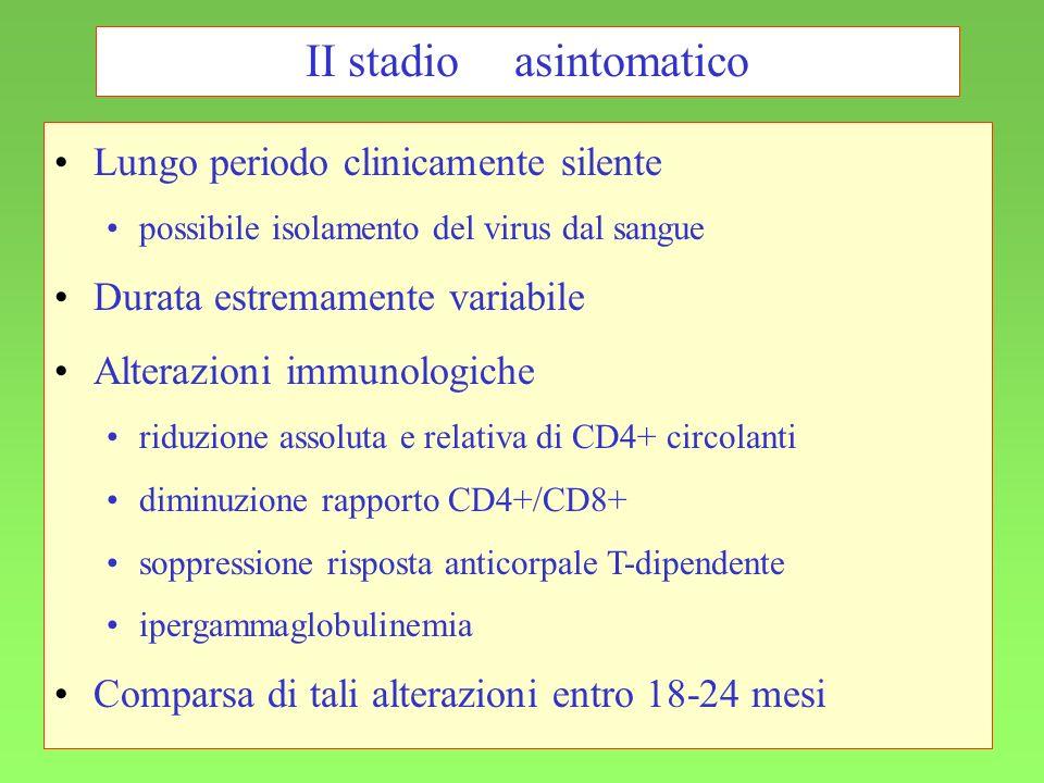 II stadio asintomatico