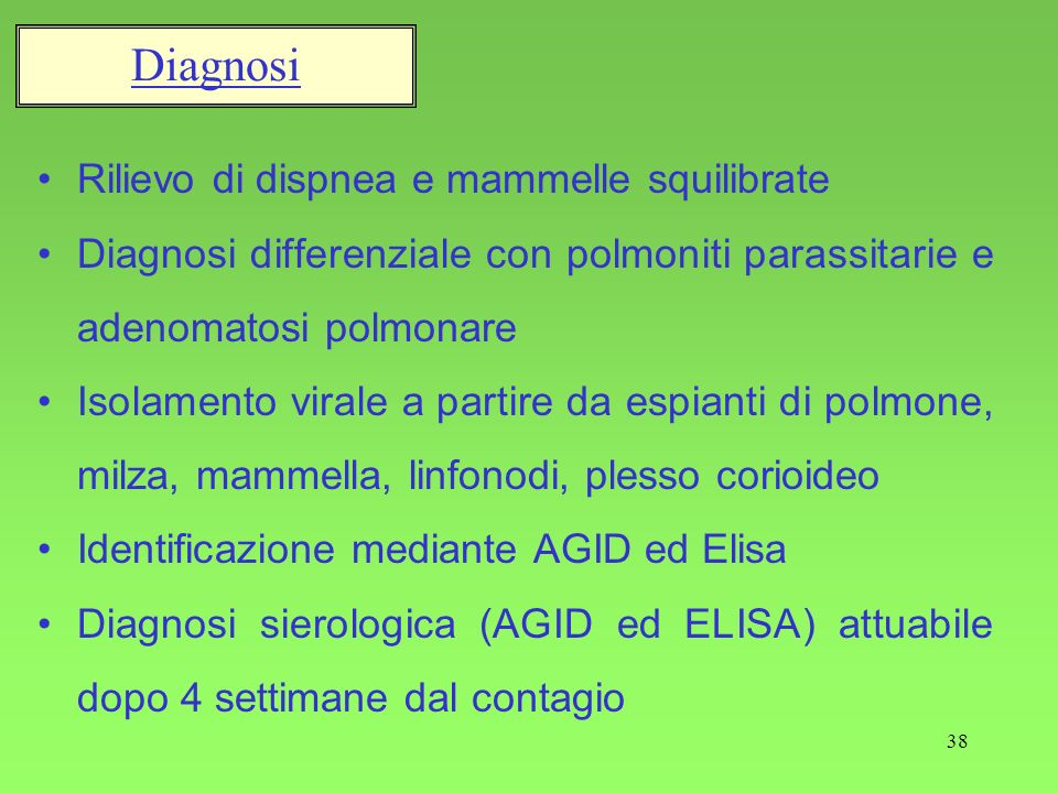 Diagnosi Rilievo di dispnea e mammelle squilibrate