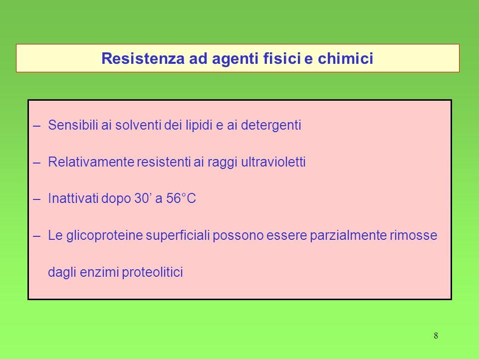 Resistenza ad agenti fisici e chimici