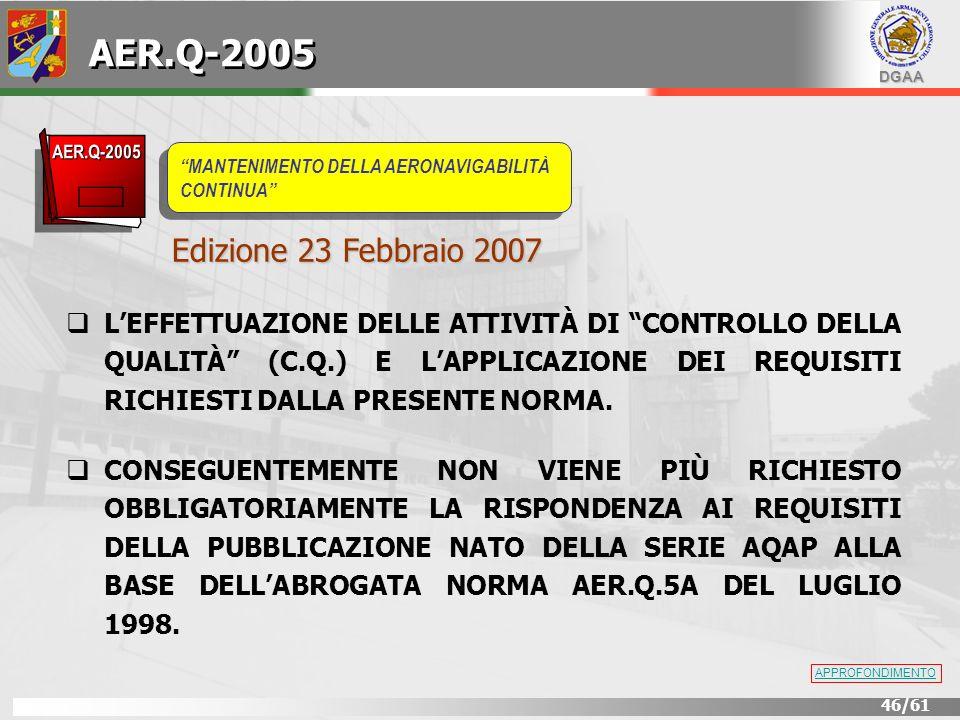 AER.Q-2005 Edizione 23 Febbraio 2007