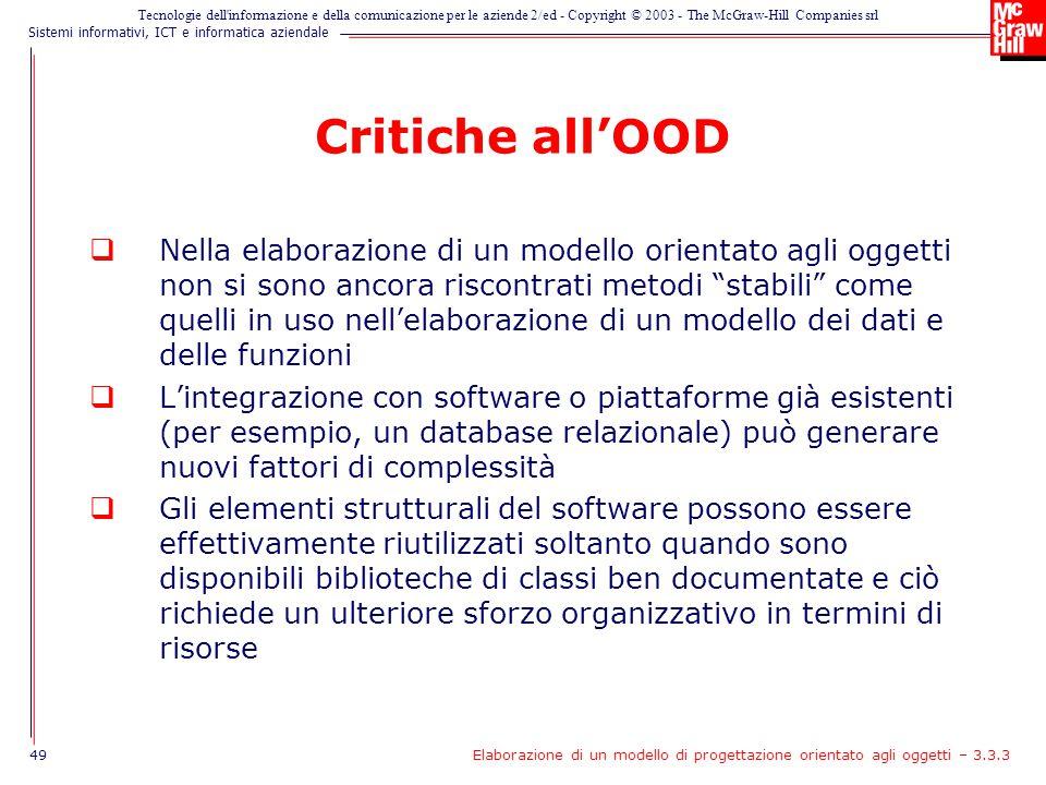 Critiche all'OOD