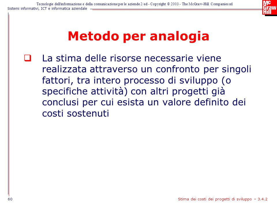 Metodo per analogia