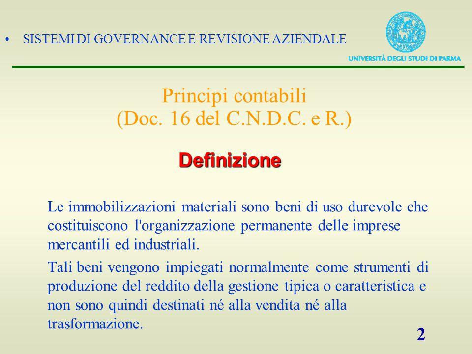 Principi contabili (Doc. 16 del C.N.D.C. e R.)