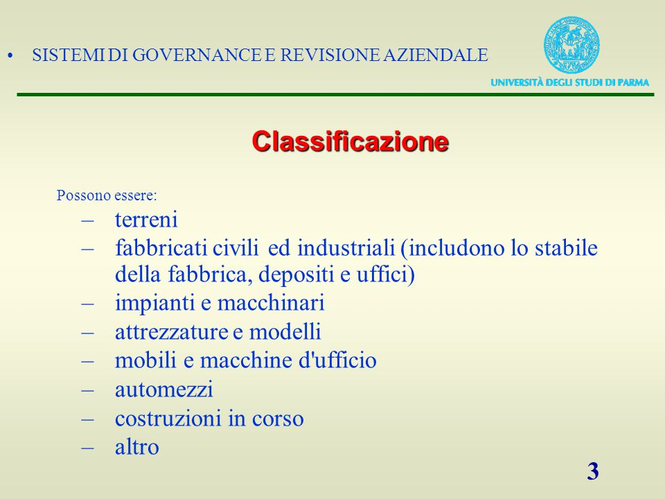 Classificazione terreni