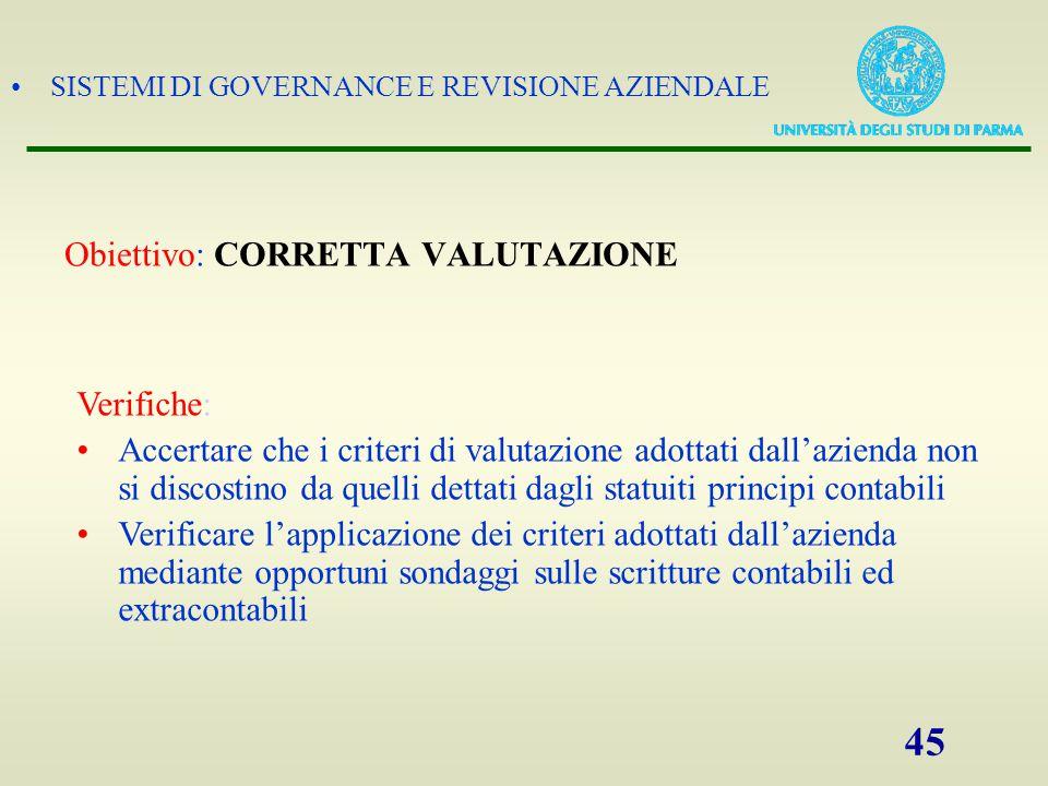 Obiettivo: CORRETTA VALUTAZIONE