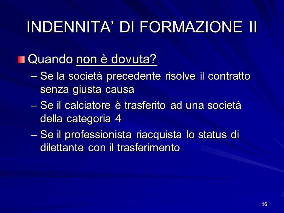 INDENNITA' DI FORMAZIONE II