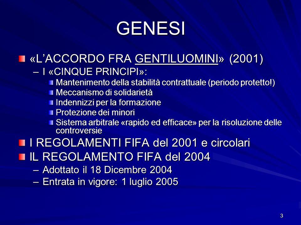 GENESI «L'ACCORDO FRA GENTILUOMINI» (2001)