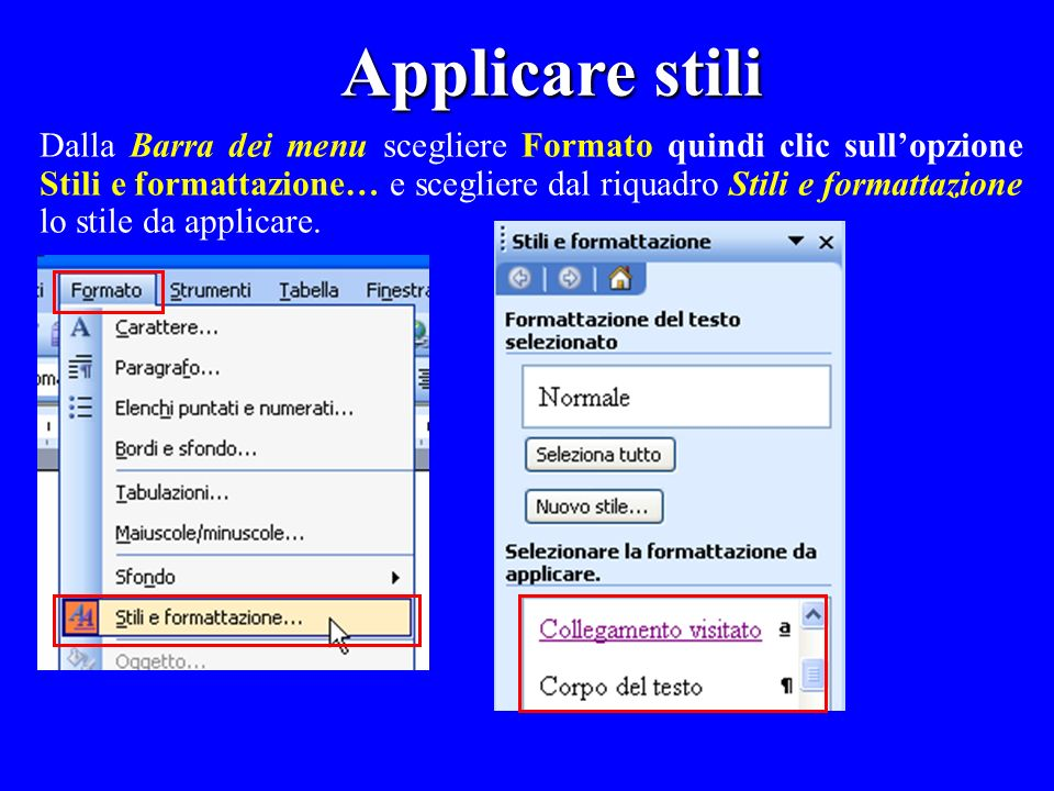 Applicare stili