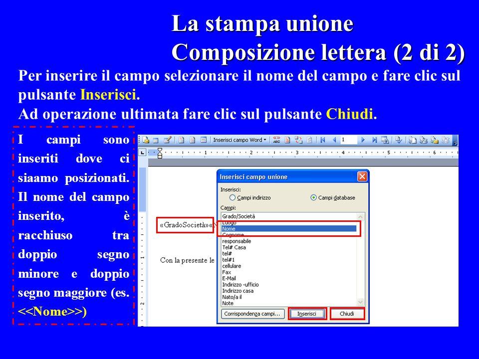 Composizione lettera (2 di 2)