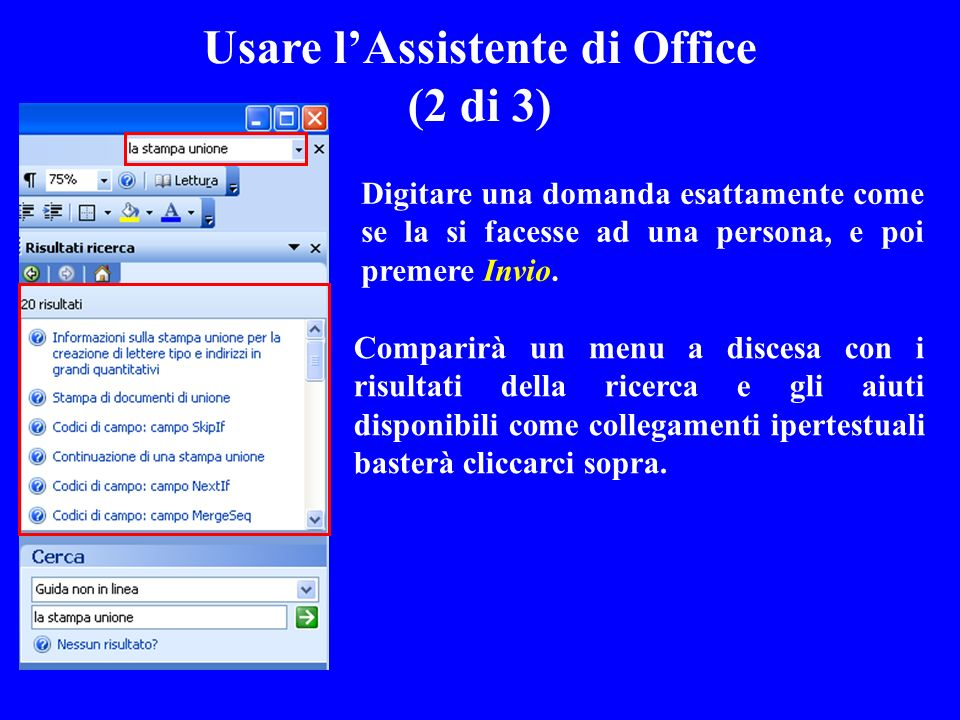 Usare l'Assistente di Office