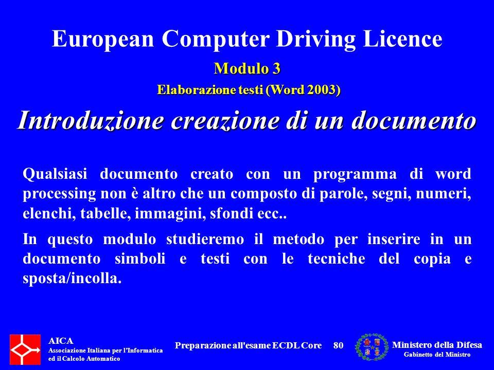 Introduzione creazione di un documento