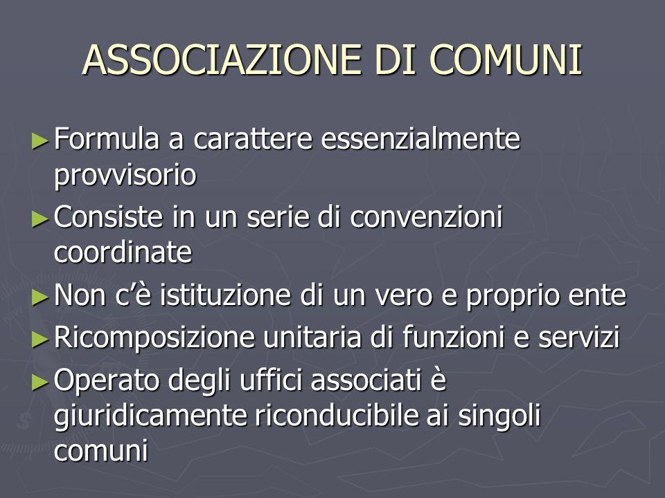 ASSOCIAZIONE DI COMUNI