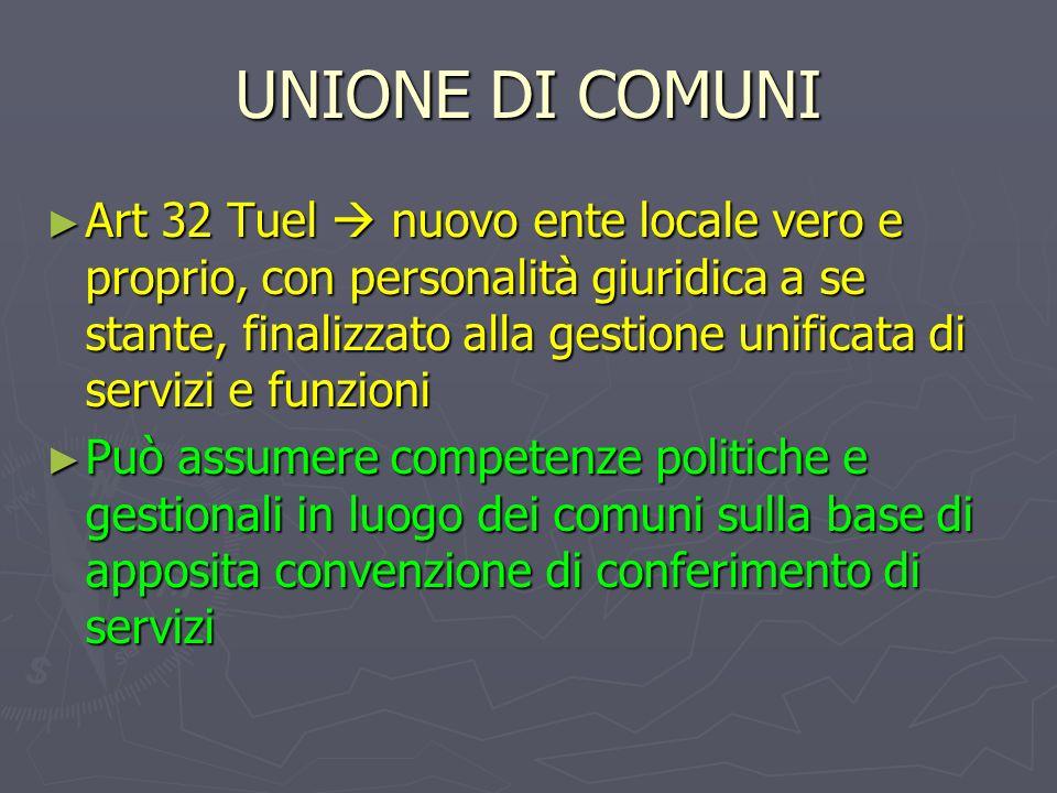 UNIONE DI COMUNI