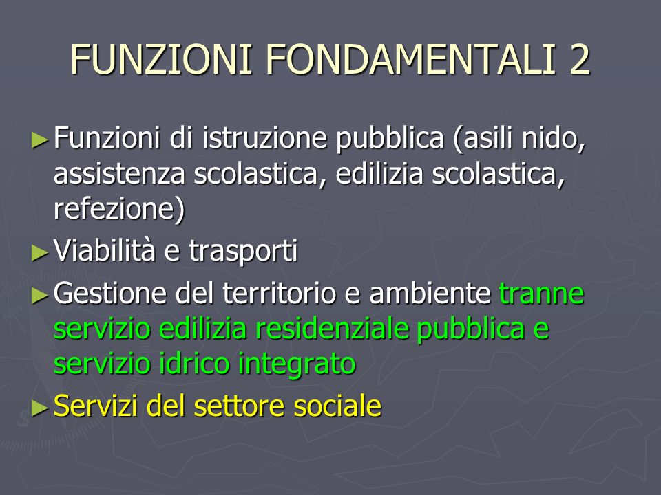 FUNZIONI FONDAMENTALI 2